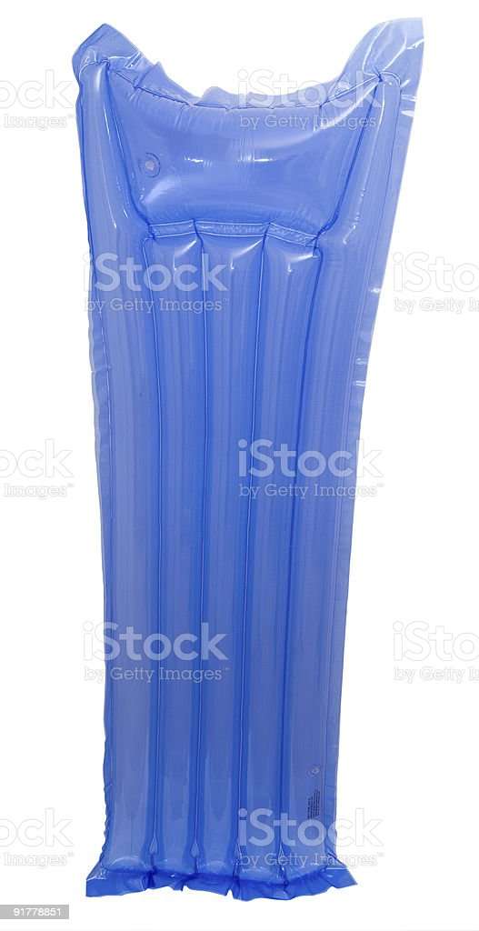blue air matress stock photo
