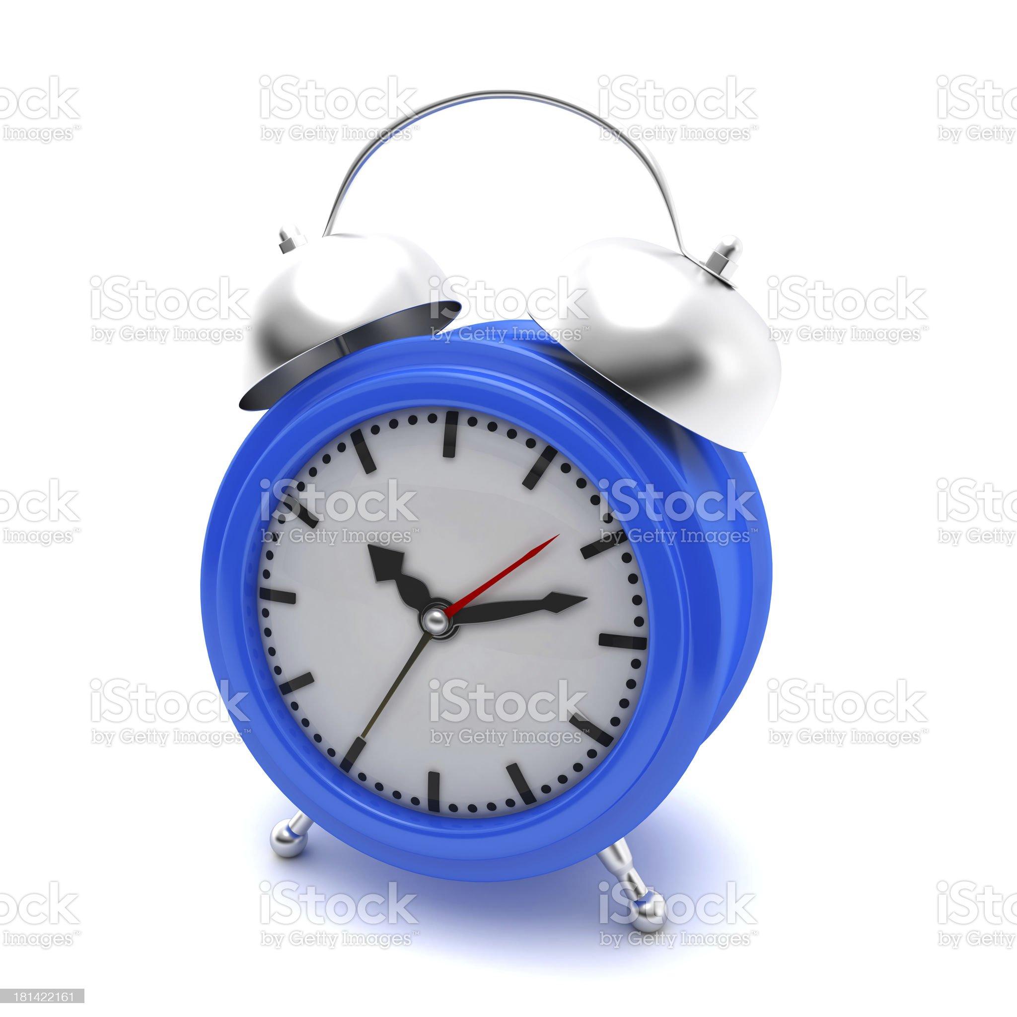 Blue Alarm Clock royalty-free stock photo