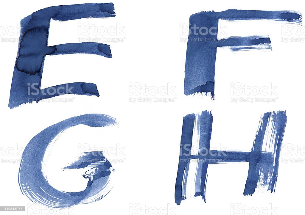 Blue alphabet royalty-free stock photo