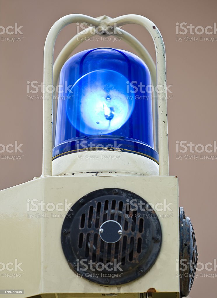 Blue Ambulance Ligth With Siren stock photo