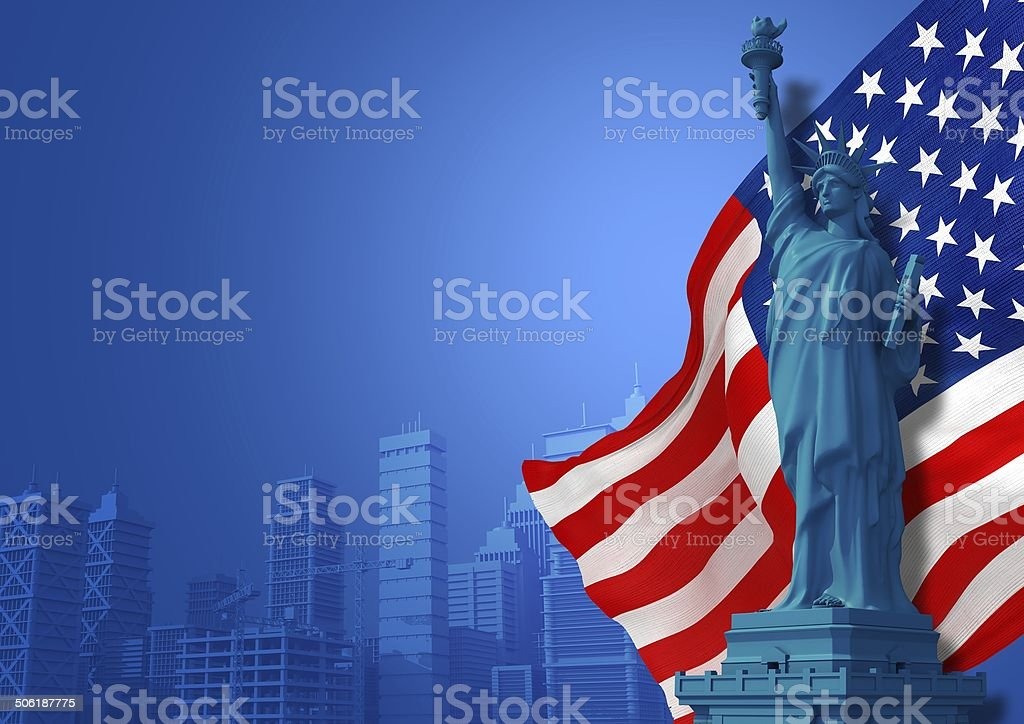 Blue American Background stock photo