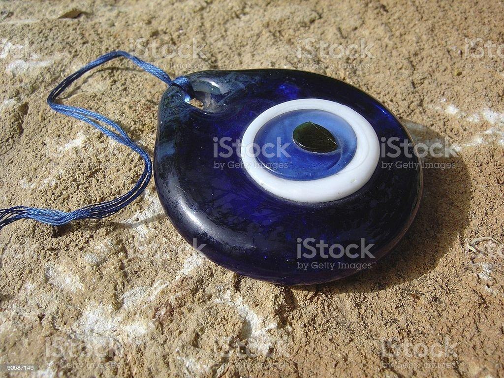 Blue Amulet Against evil stock photo