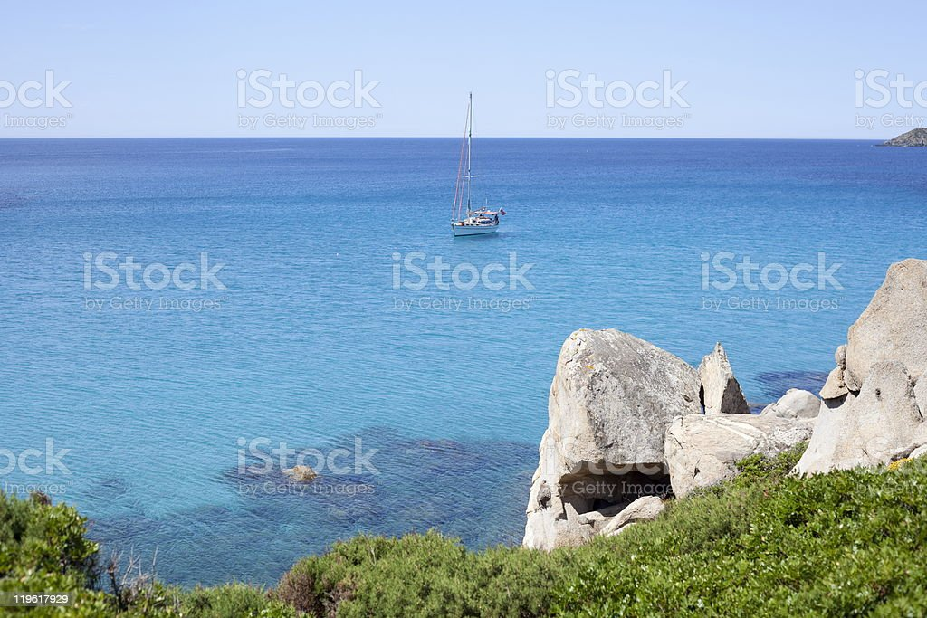 Blue anchorage. royalty-free stock photo