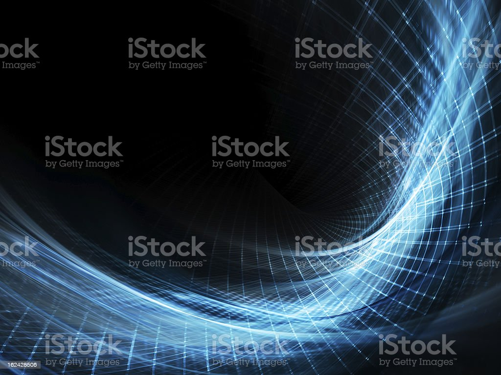 Blue and black abstract background stock photo