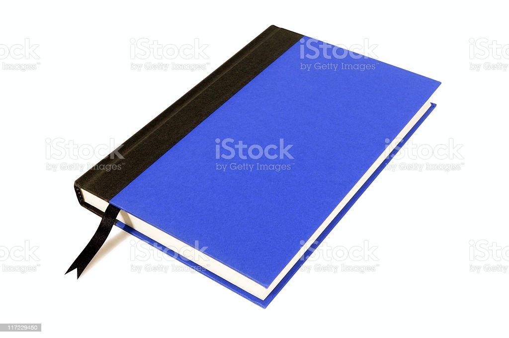 Blue and black hardback book royalty-free stock photo