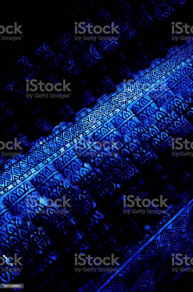 blue and black pattern stock photo