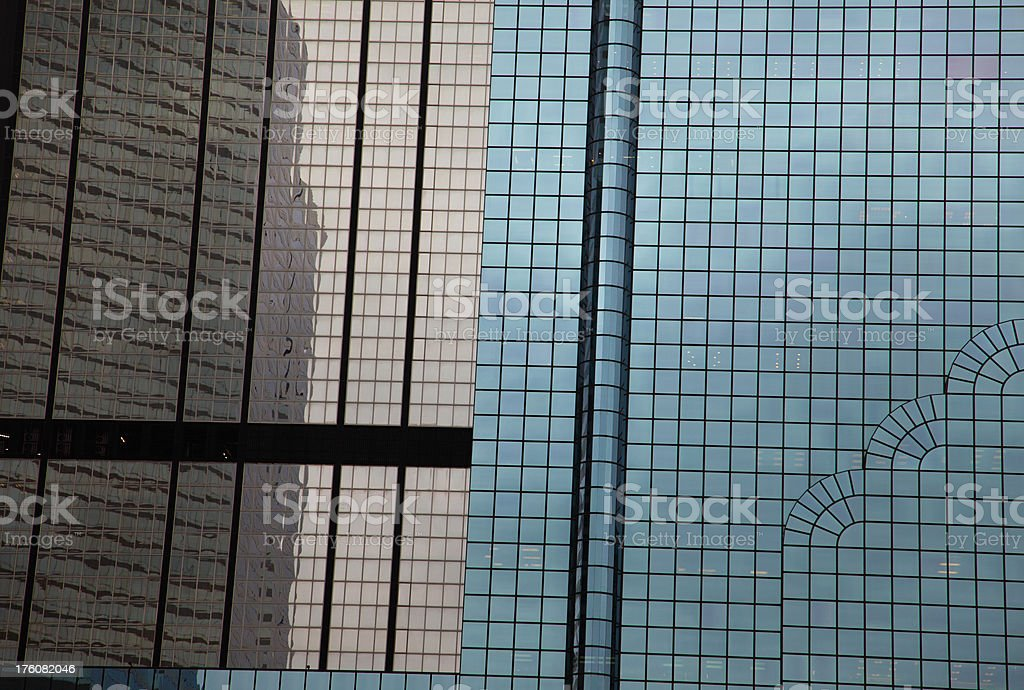 Blue and brown glass office buildings royalty-free stock photo
