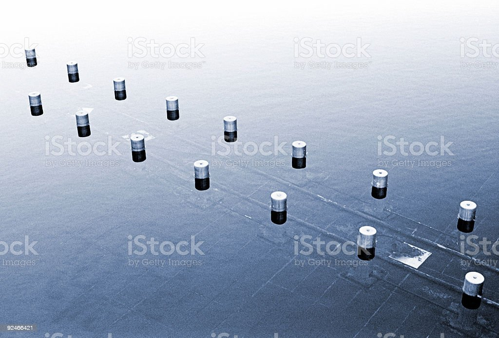 Blue and calm royalty-free stock photo