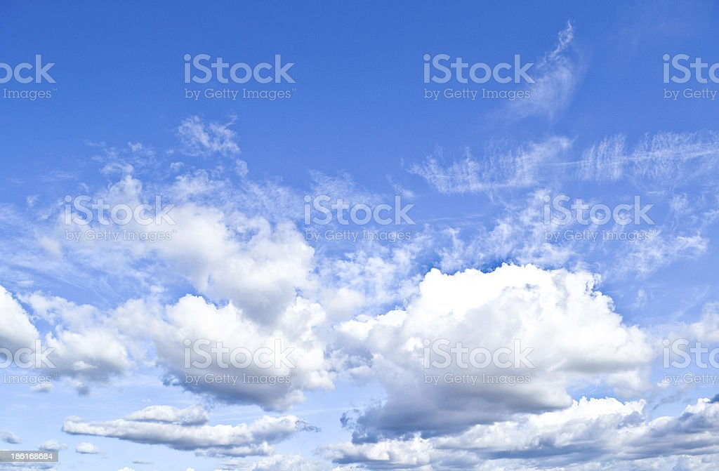 Blue and cloudy sky royalty-free stock photo