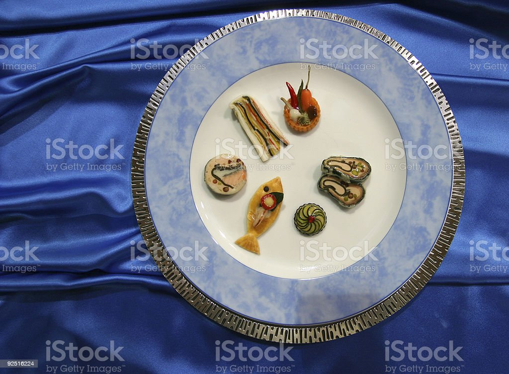Blue and food royalty-free stock photo