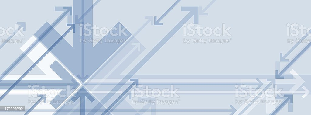 Blue and gray abstract background with arrows royalty-free stock photo