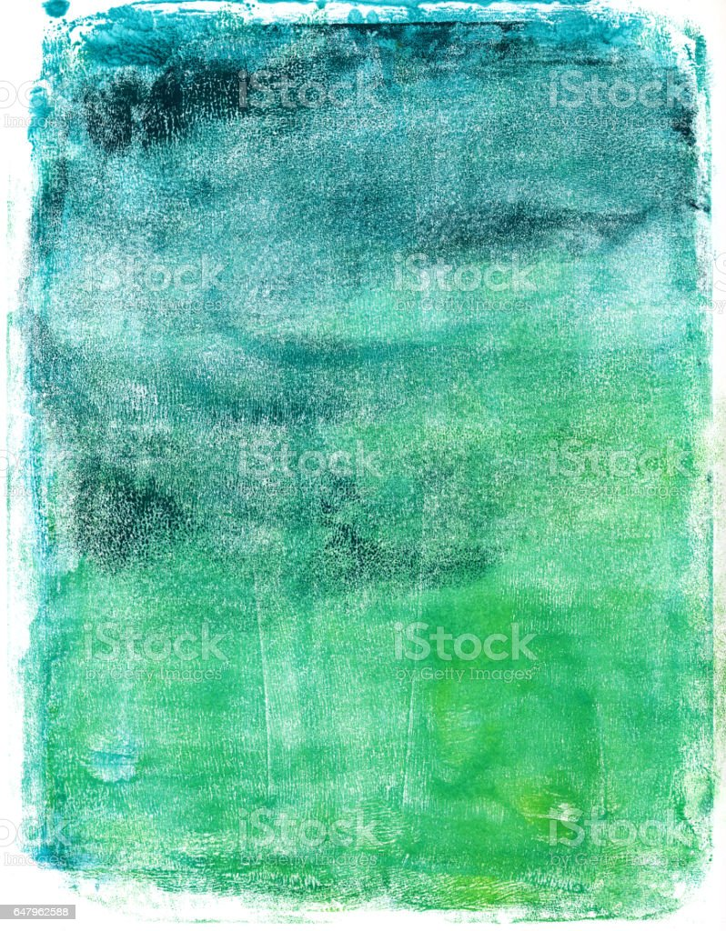 Blue and green gradient hand painted texture vector art illustration