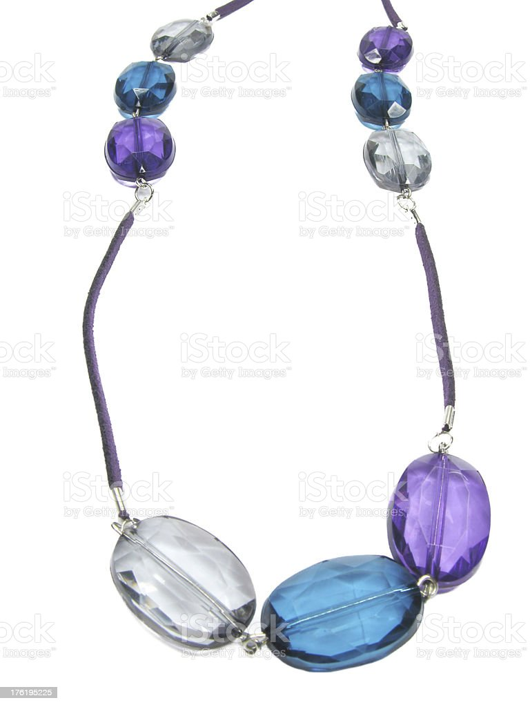 blue and green jewellery necklace royalty-free stock photo