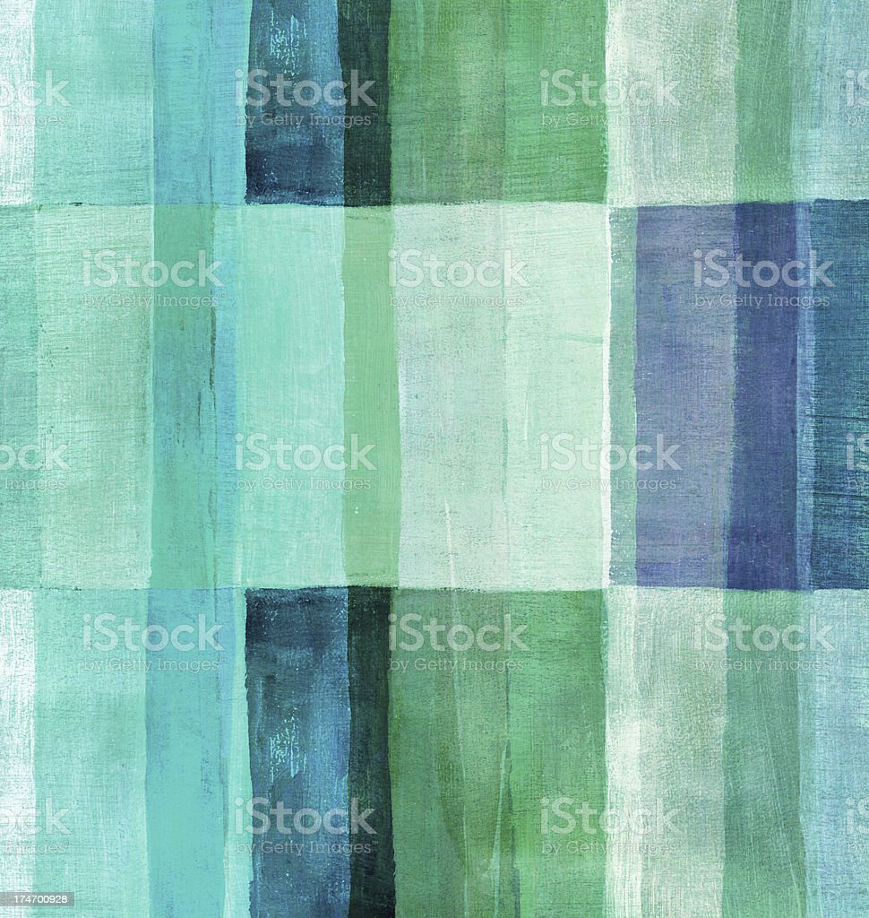 Blue and Green Painted Background stock photo