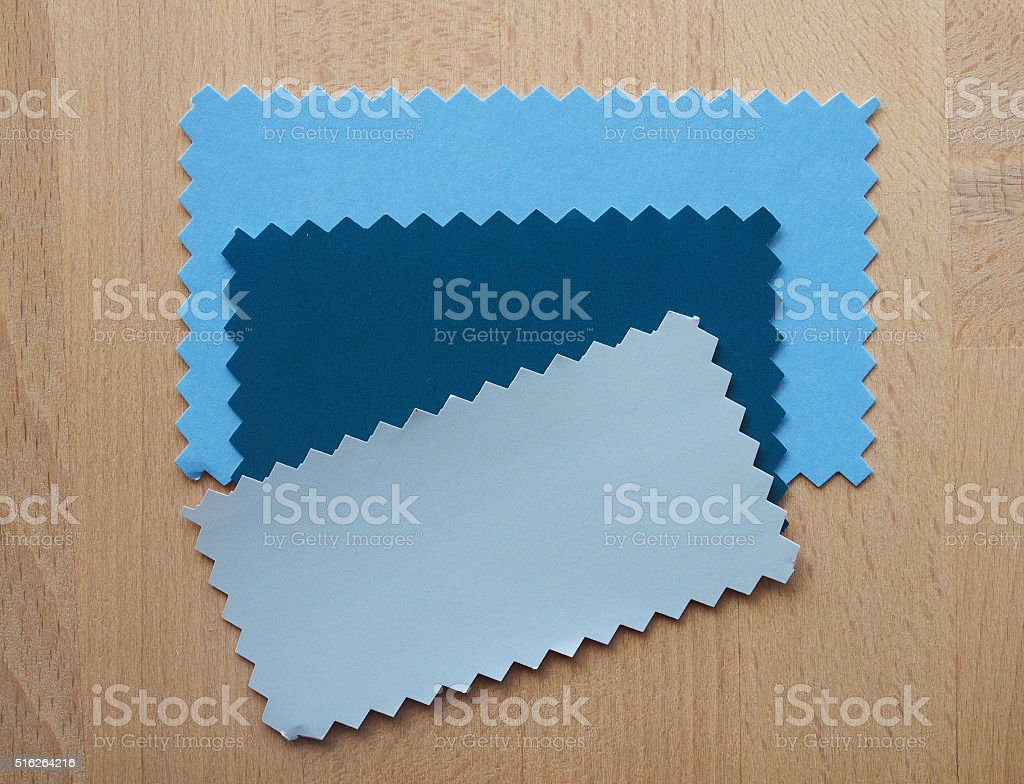 Blue and grey paper sample stock photo