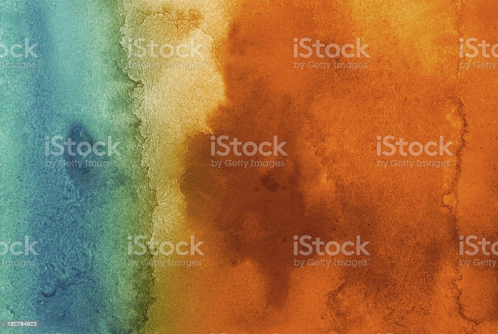 Blue and orange background abstraction stock photo