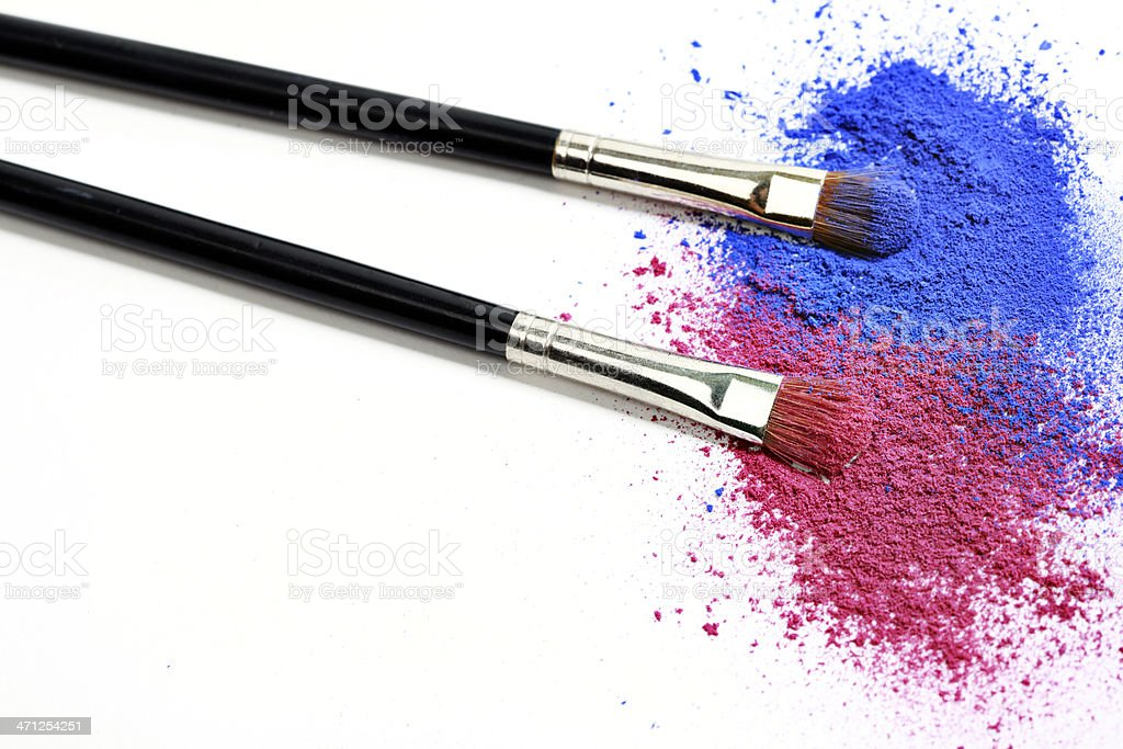 Blue and Pink Eyeshadow royalty-free stock photo