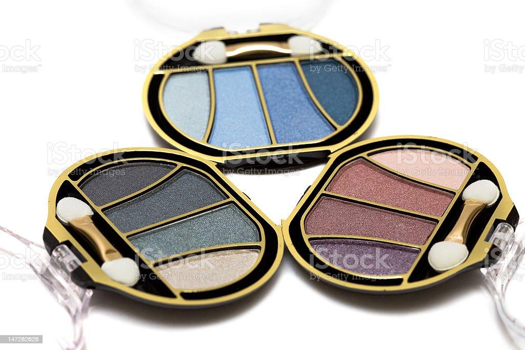 Azul e Rosa Maquiagem eyeshadows foto de stock royalty-free