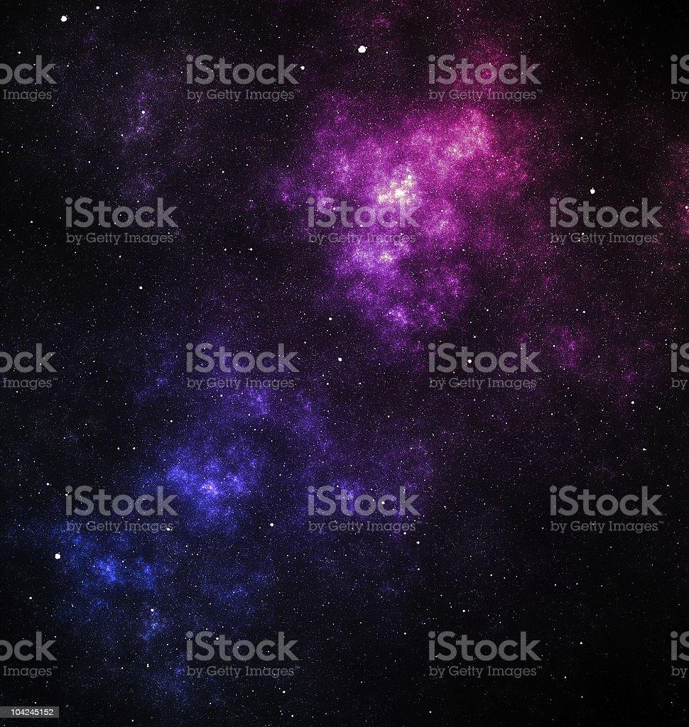 Blue and purple nebula stock photo