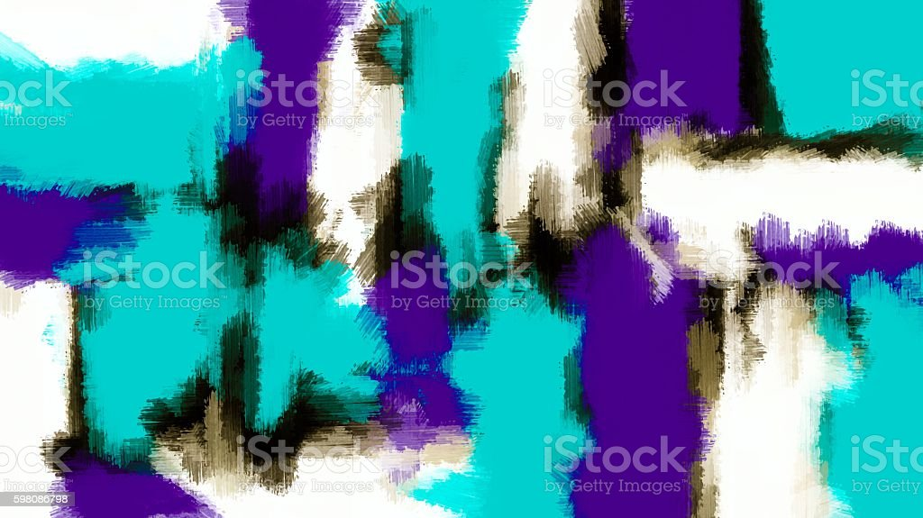 blue and purple painting texture stock photo