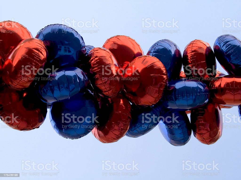blue and red ballons royalty-free stock photo
