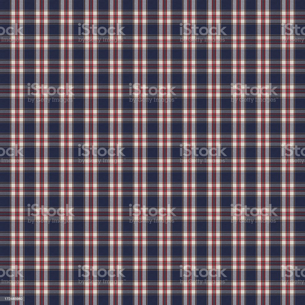 Blue and Red Gingham Tablecloth Pattern royalty-free stock photo