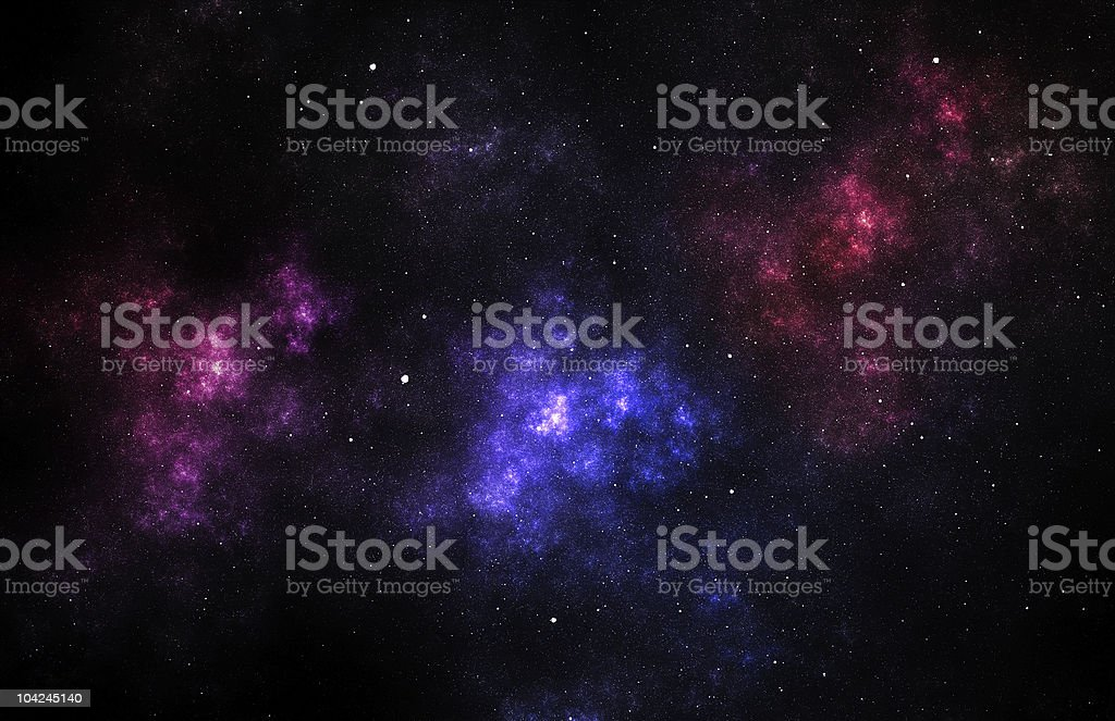 Blue and red nebula royalty-free stock photo
