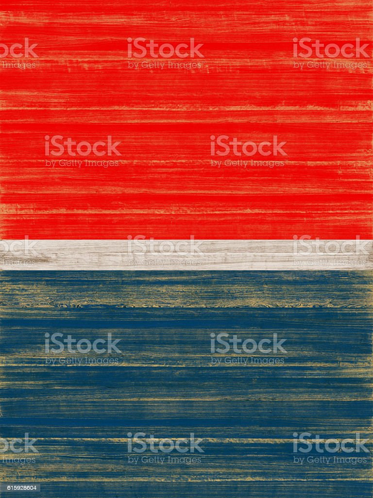Blue and Red Painted Wood Background stock photo