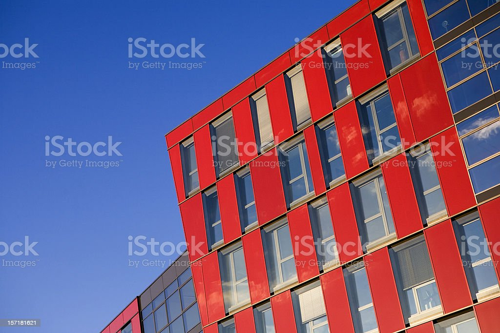 Blue and Red stock photo