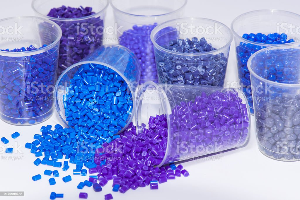 blue and violet polmyer resin stock photo