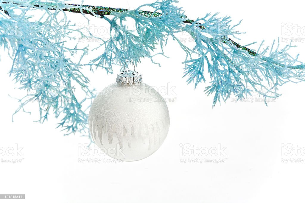 Blue and White at Christmas royalty-free stock photo