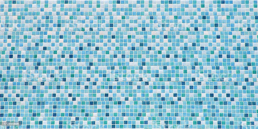 Blue and white bathroom tile background stock photo