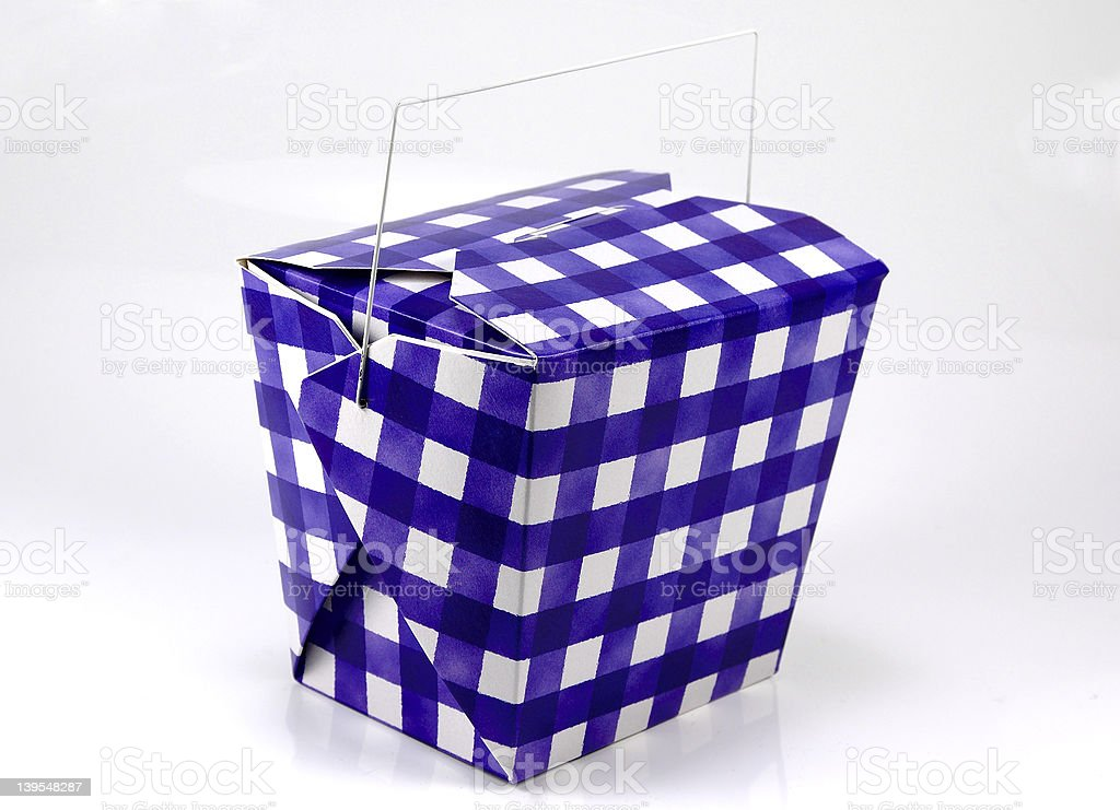 Blue and White Carton royalty-free stock photo