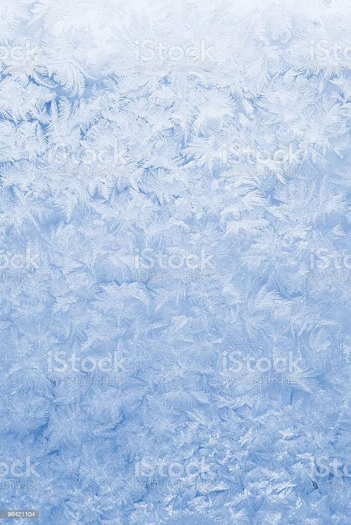 Blue and white frozen glass background royalty-free stock photo