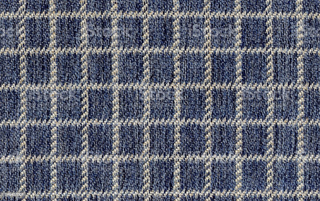 Blue and White Gingham Textile stock photo