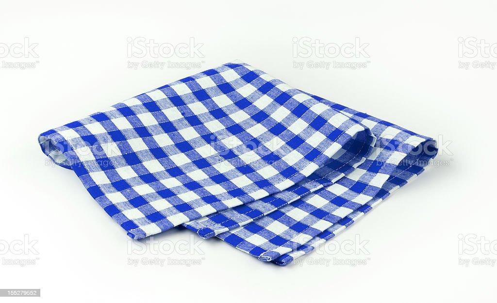 Blue and white napkin stock photo