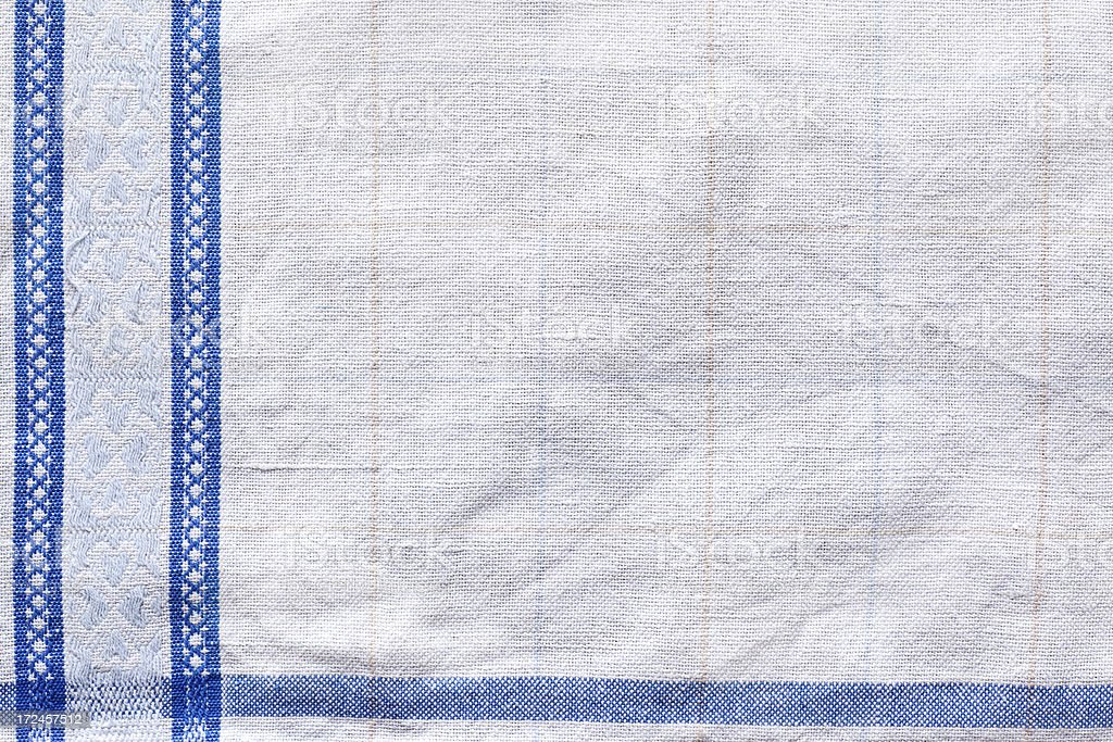 Blue and white old linen background royalty-free stock photo