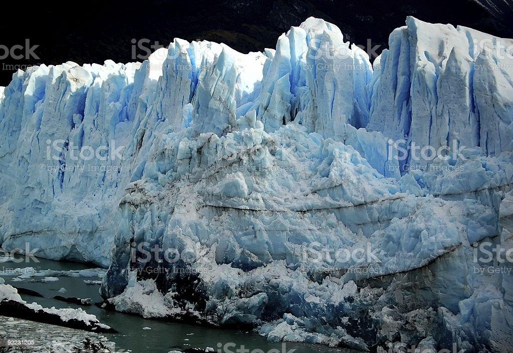 Niebieski i biały Patagonien Glacier zbiór zdjęć royalty-free