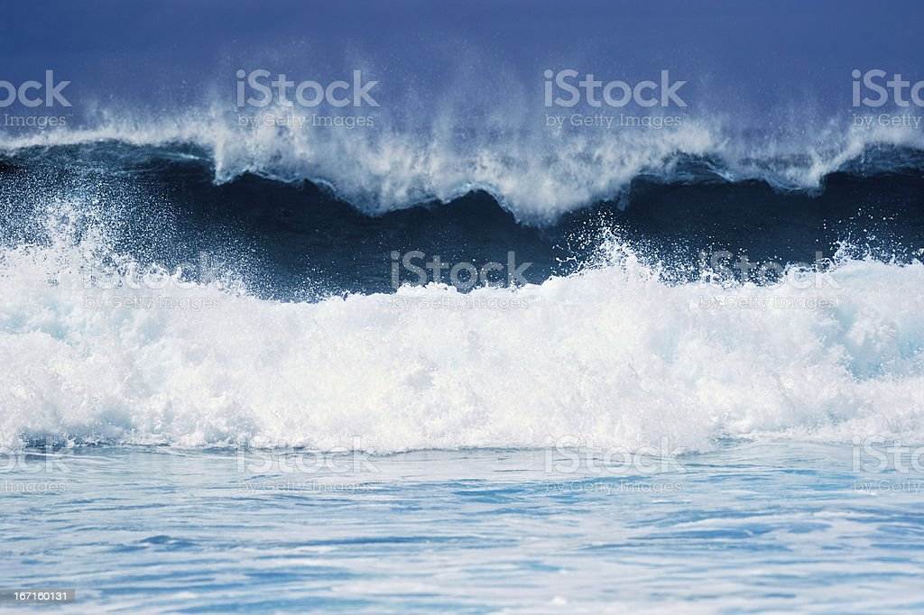 Blue and White royalty-free stock photo