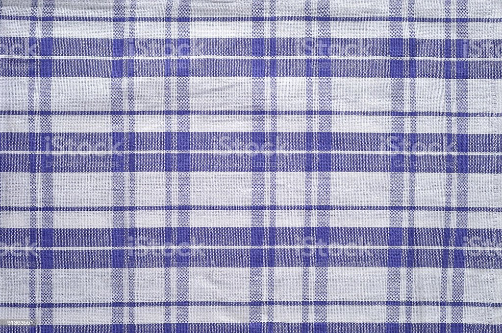 Blue and white tablecloth pattern royalty-free stock photo