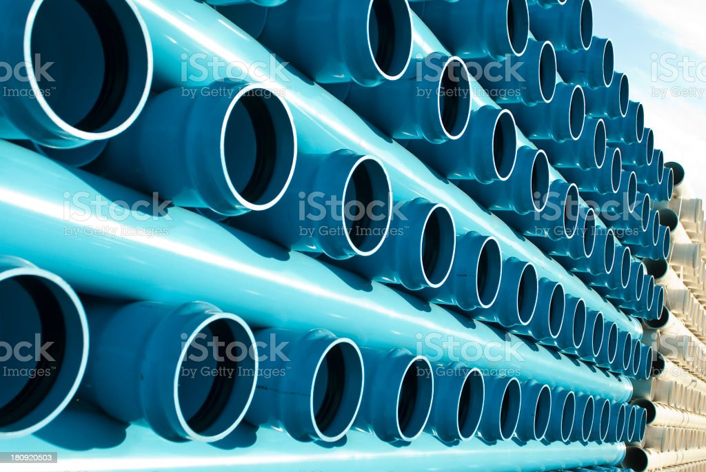 Blue And White Tubes royalty-free stock photo