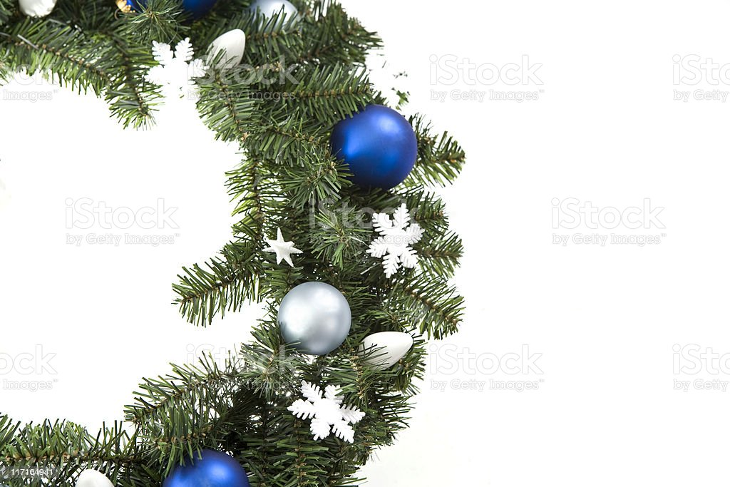 Blue and White Wreath royalty-free stock photo