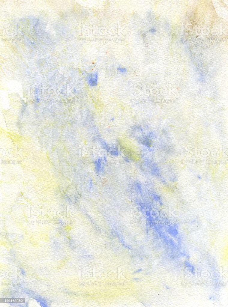 Blue and Yellow Abstract Watercolor Background stock photo