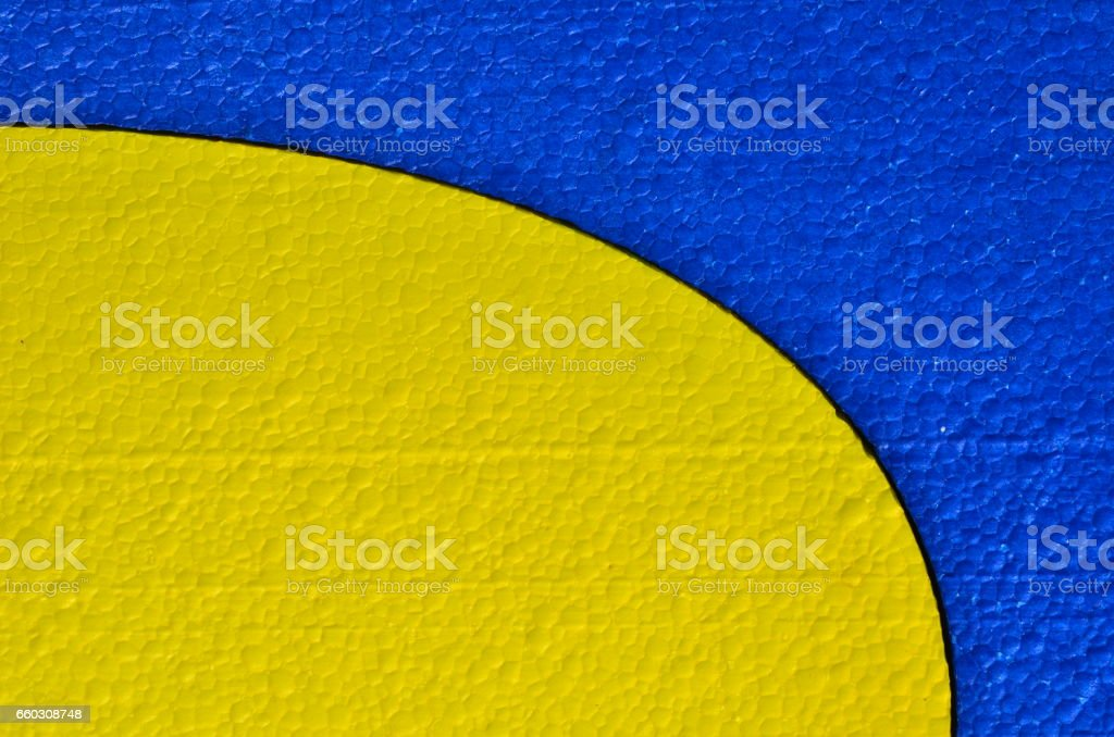 Blue and yellow background stock photo