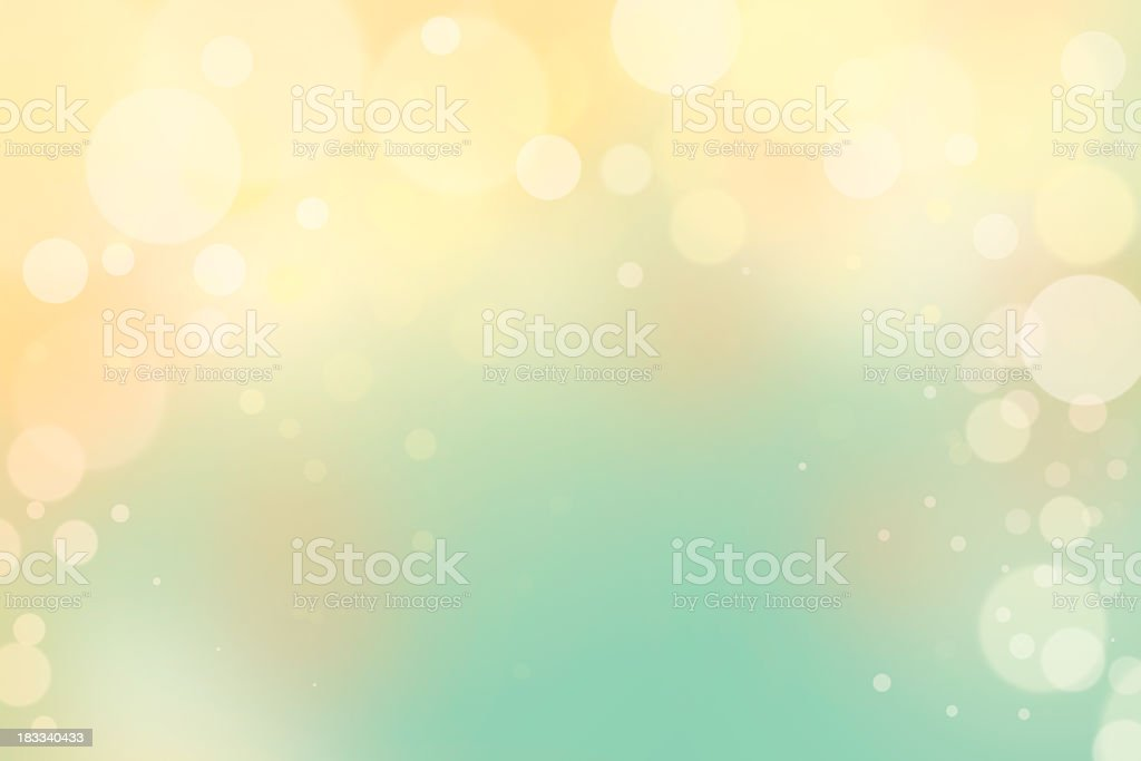 Blue and yellow bokeh background royalty-free stock photo