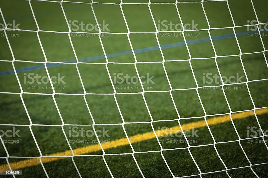 Blue and Yellow Line - Soccer stock photo