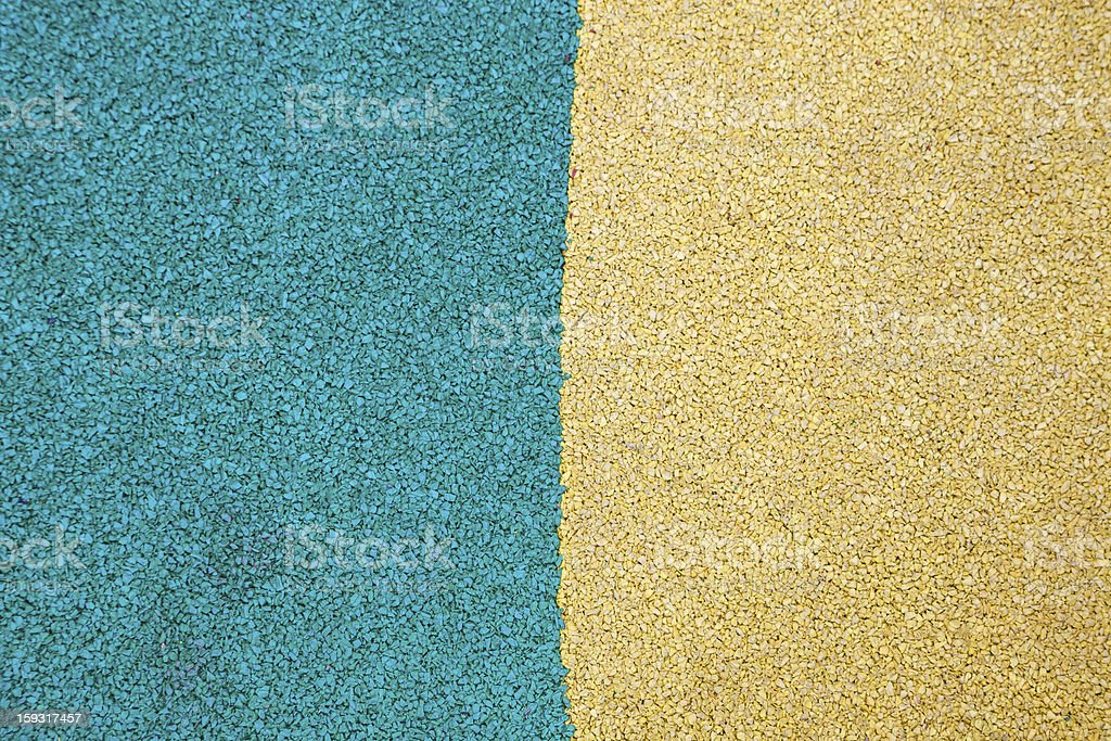 blue and yellow rubber ground royalty-free stock photo