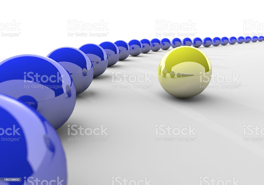 Blue and yellow Sphere royalty-free stock photo