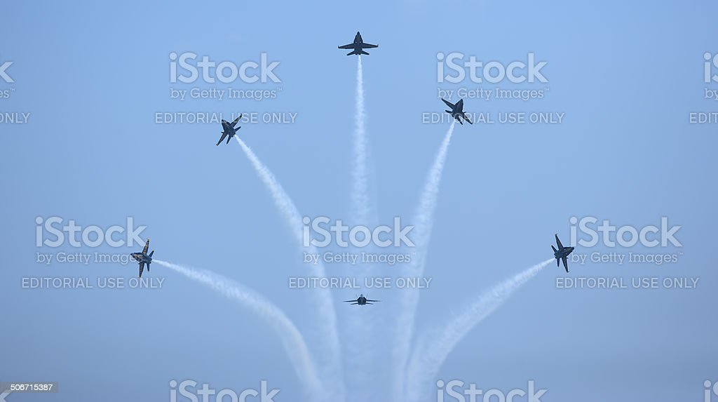 Blue Angel Fountain Formation royalty-free stock photo