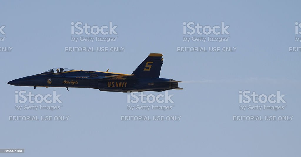 Blue Angel in Flight royalty-free stock photo